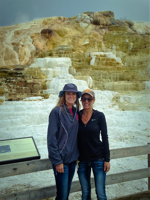Brittany and Lynda at Yellowstone Park