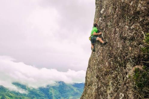 Josh Donegan climbing